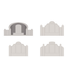 chinese tombstone in design front view vector image