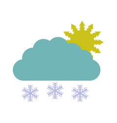 cloud icon with snow vector image