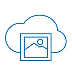 Cloud photo storage vector