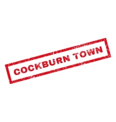 Cockburn Town Rubber Stamp vector image