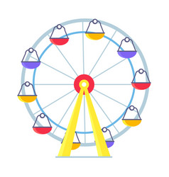 Colorful poster of ferris wheel on white vector