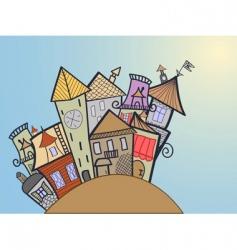 Concept medieval town vector