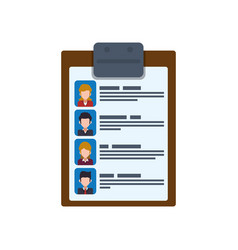 document holder paper sheet people vector image