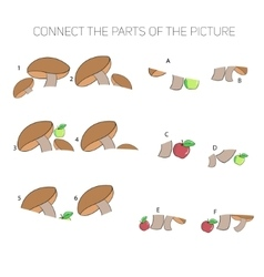 educational game for children connect parts vector image