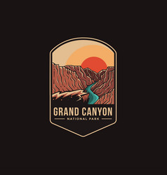 Emblem patch logo grand canyon national park vector