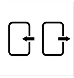 exit icon logout and output outlet out symbol vector image