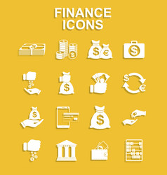 finance icons set vector image