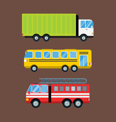Fire truck car cartoon delivery transport cargo vector