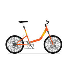 flat bicycle isolated on white background vector image
