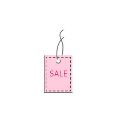 flat orange sale price tag icon vector image