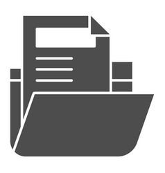 Folder with file solid icon archive folder vector