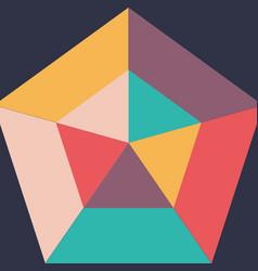 geometric background design vector image