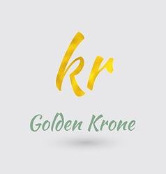 Golden Krone Symbol vector