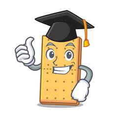Graduation graham cookies character cartoon vector