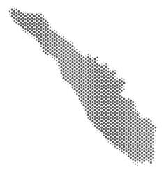Halftone silver sumatra island map vector