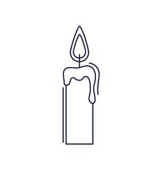 happy birthday burning candle decoration vector image