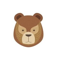 Head Of The Brown Bear vector