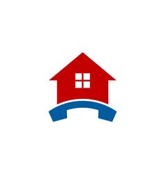 Home call logo icon design vector