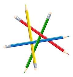 Impossible figure from pencils vector image