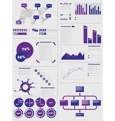 INFOGRAPHIC DEMOGRAPHICS 5 PURPLE vector image