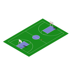 Isometric outdoor public basketball court vector