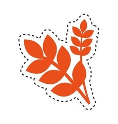 Leafs vegan food isolated icon vector