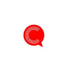 Letter c chat logo design communication logo vector