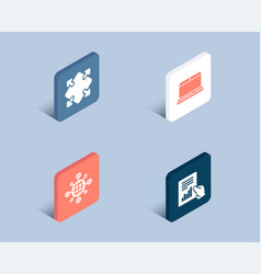logistics network notebook and maximize icons vector image