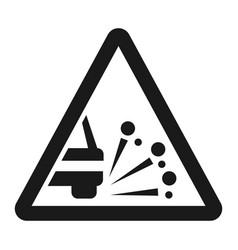 Loose chippings and gravel line icon vector