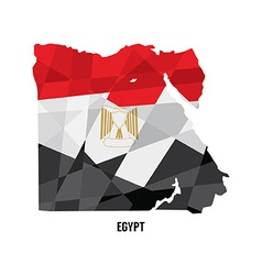 Map of egypt vector