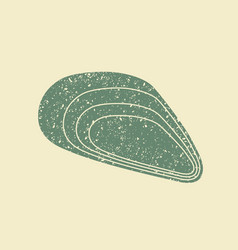 mussel icon flat design vector image