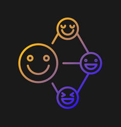 Networking talent gradient icon for dark theme vector