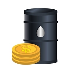 Oil tank container icon vector