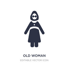 Old woman icon on white background simple element vector