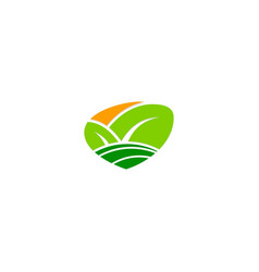 organic green leaf nature bio logo vector image
