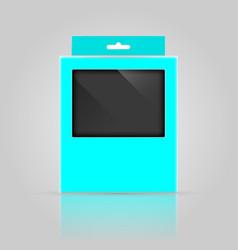 packaging box mock-up design vector image
