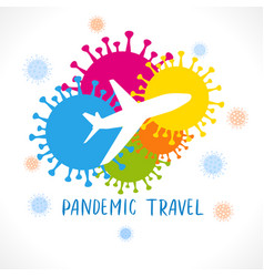 Pandemic travel concept covid-19 banner vector