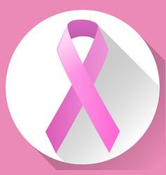 Pink ribbon symbolic vector