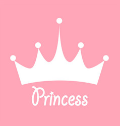 princess background with crown stock vector image