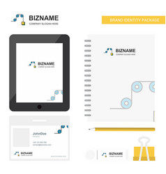 Pulley business logo tab app diary pvc employee vector
