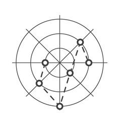 Radar icon on white background vector