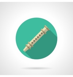 Reed pipe round flat color icon vector image
