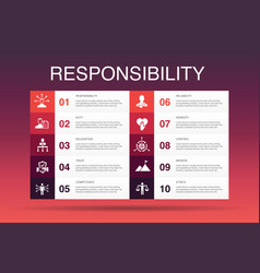 Responsibility infographic 10 option template vector