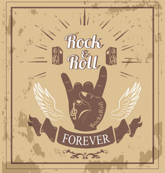 rock n roll forever ribbon vector image