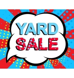Sale poster with YARD SALE text Advertising vector image