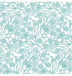 seamless ornate pattern with flowers tropical vector image