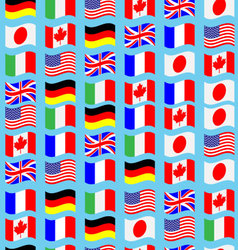 Seamless pattern flag g7 wave vector image
