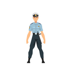 security police officer professional policeman vector image