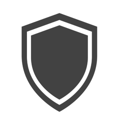 shield protection anti virus insignia security vector image