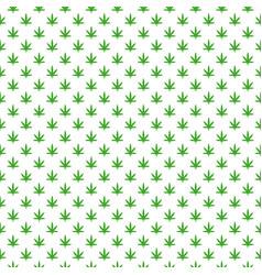 Simple marijuana leaf hemp cannabis pattern vector
